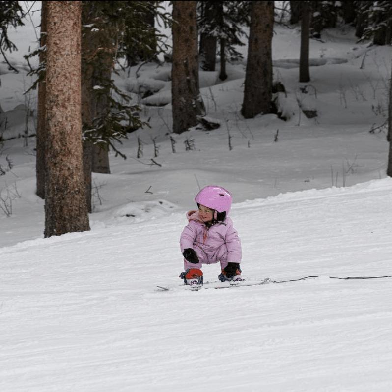 brighton utah children skiing